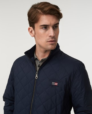 Hector Quilted Jacket, Dark Blue
