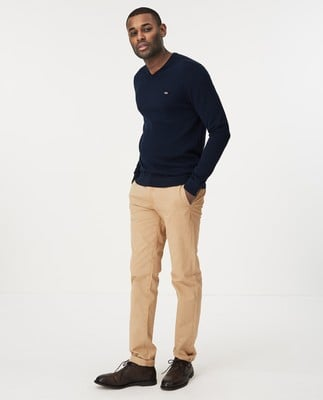 Allen V-Neck Sweater, Dark Blue