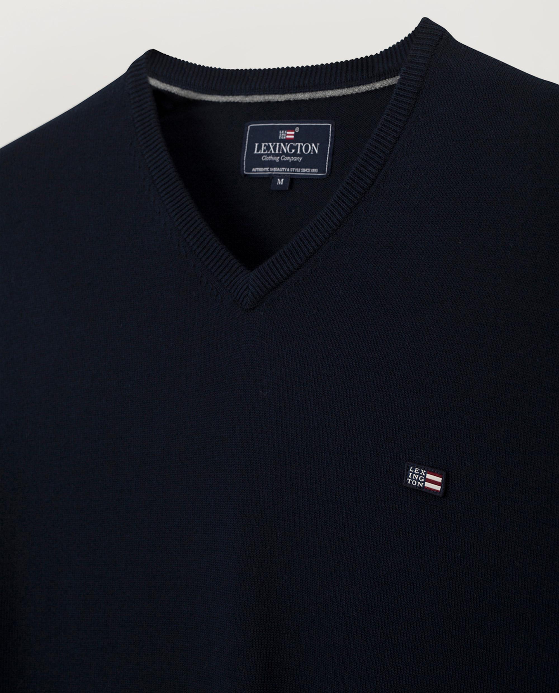 Allen V-Neck Sweater, Dark Blue