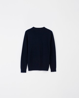 Allen Organic Cotton V-Neck Sweater, Dark Blue