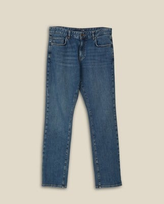 Ray 5-Pocket Jeans, Medium Blue Denim