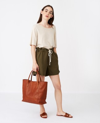Willow Premium Leather Tote Bag, Brown
