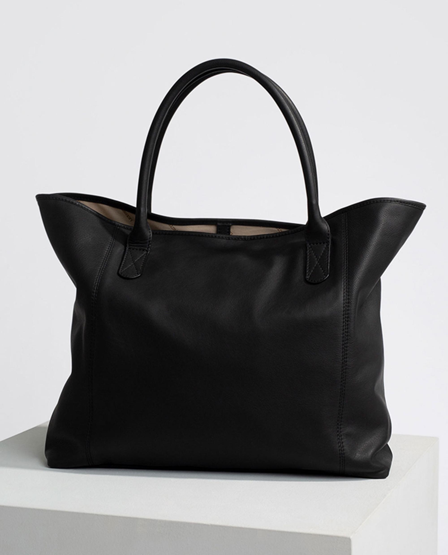 Willow Premium Leather Tote Bag, Black