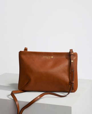 Trudy Zip Bag, Brown