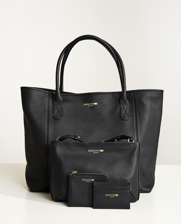 Meadow Premium Leather Zip Wallet, Black
