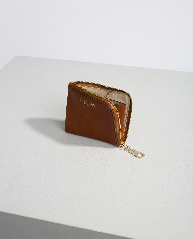 Meadow Premium Leather Zip Wallet, Brown