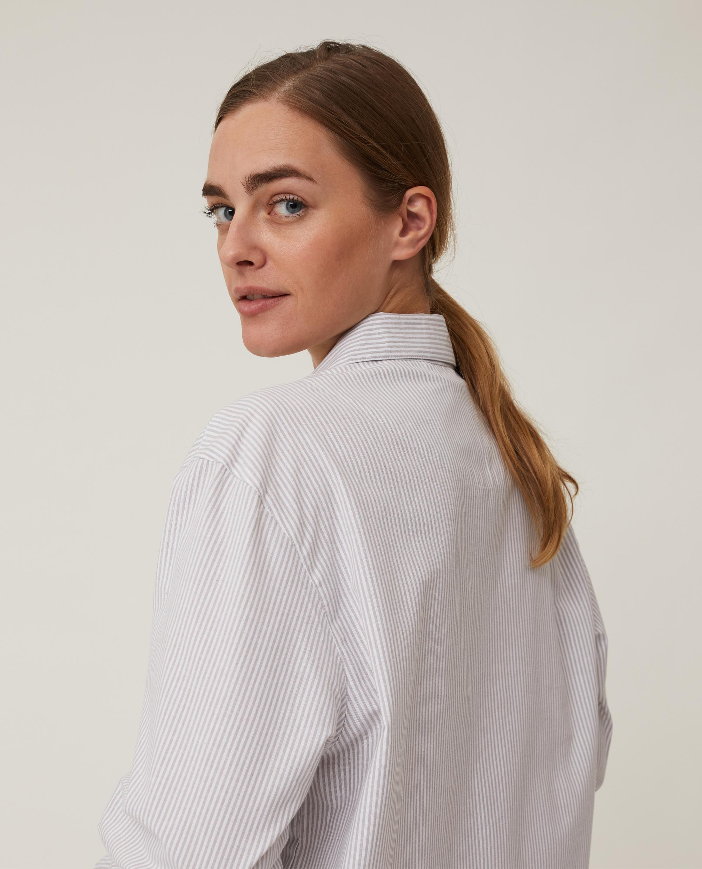 Unisex Organic Cotton Pajama Set, Gray/White