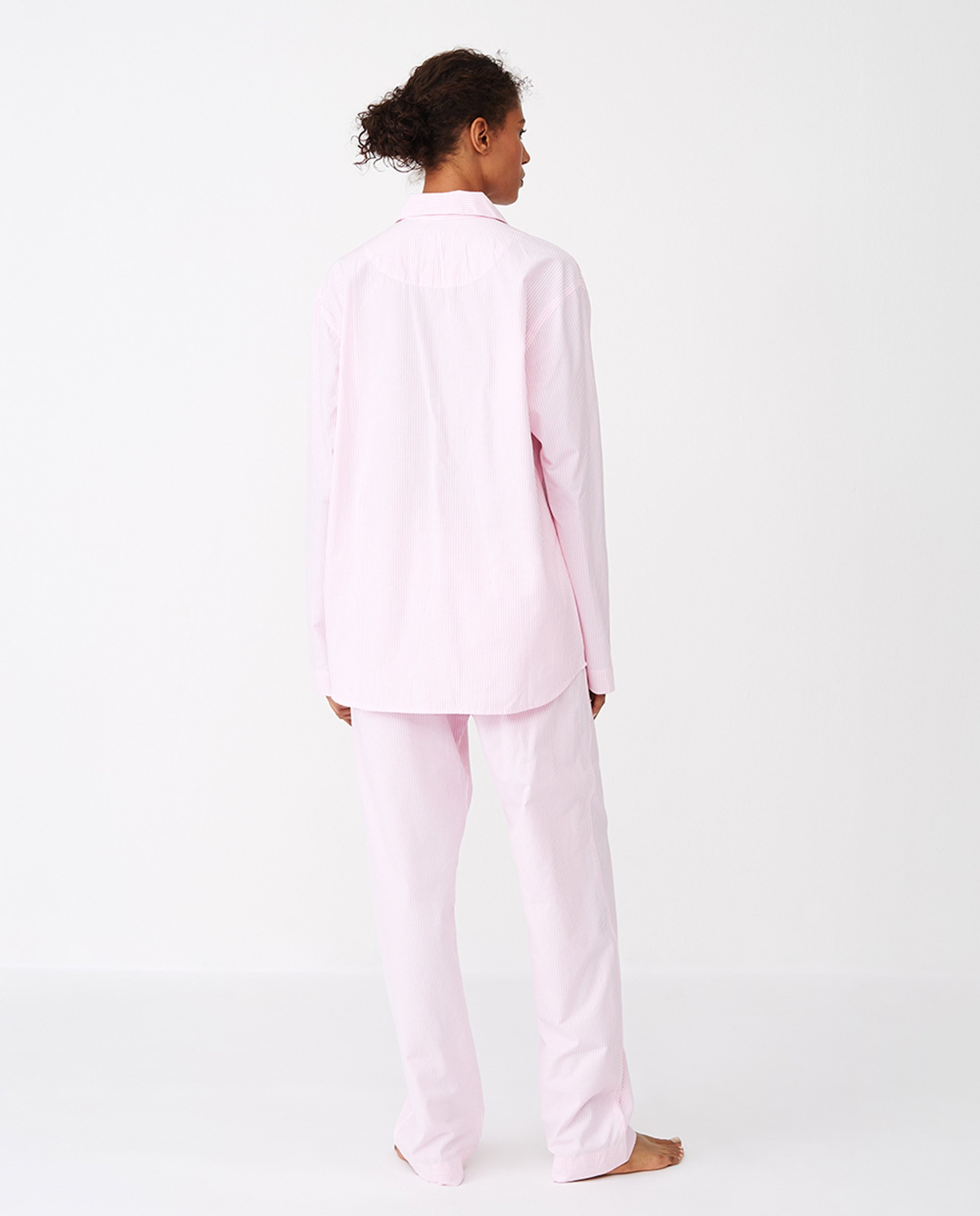 Unisex Organic Cotton Pajama Set, Pink/White