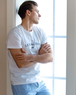 Men´s Organic Cotton Pajama Set, Blue/White