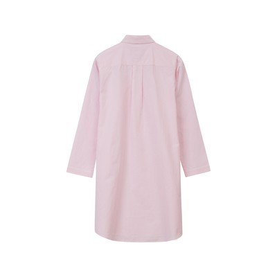 Womens Nightshirt organic, Pink/White
