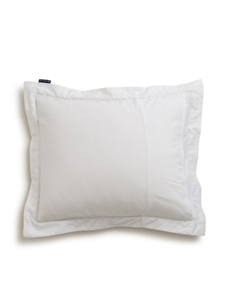 Holiday Star Framed Sateen Pillowcase, White/Green