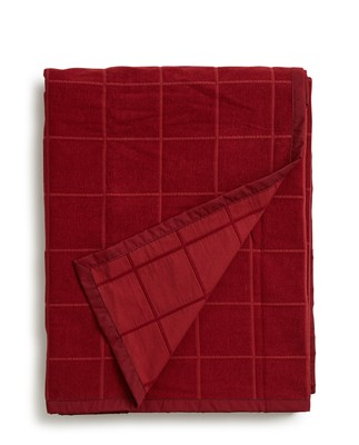 Holiday Velvet Bedspread, Red