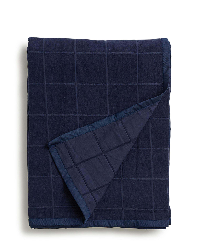 Holiday Velvet Bedspread, Blue
