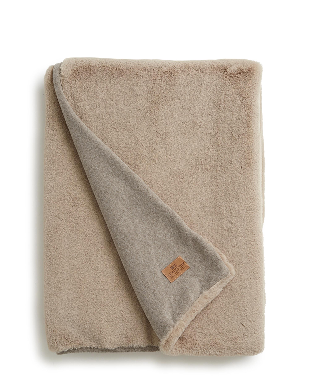 Holiday Faux Fur Blanket, Beige