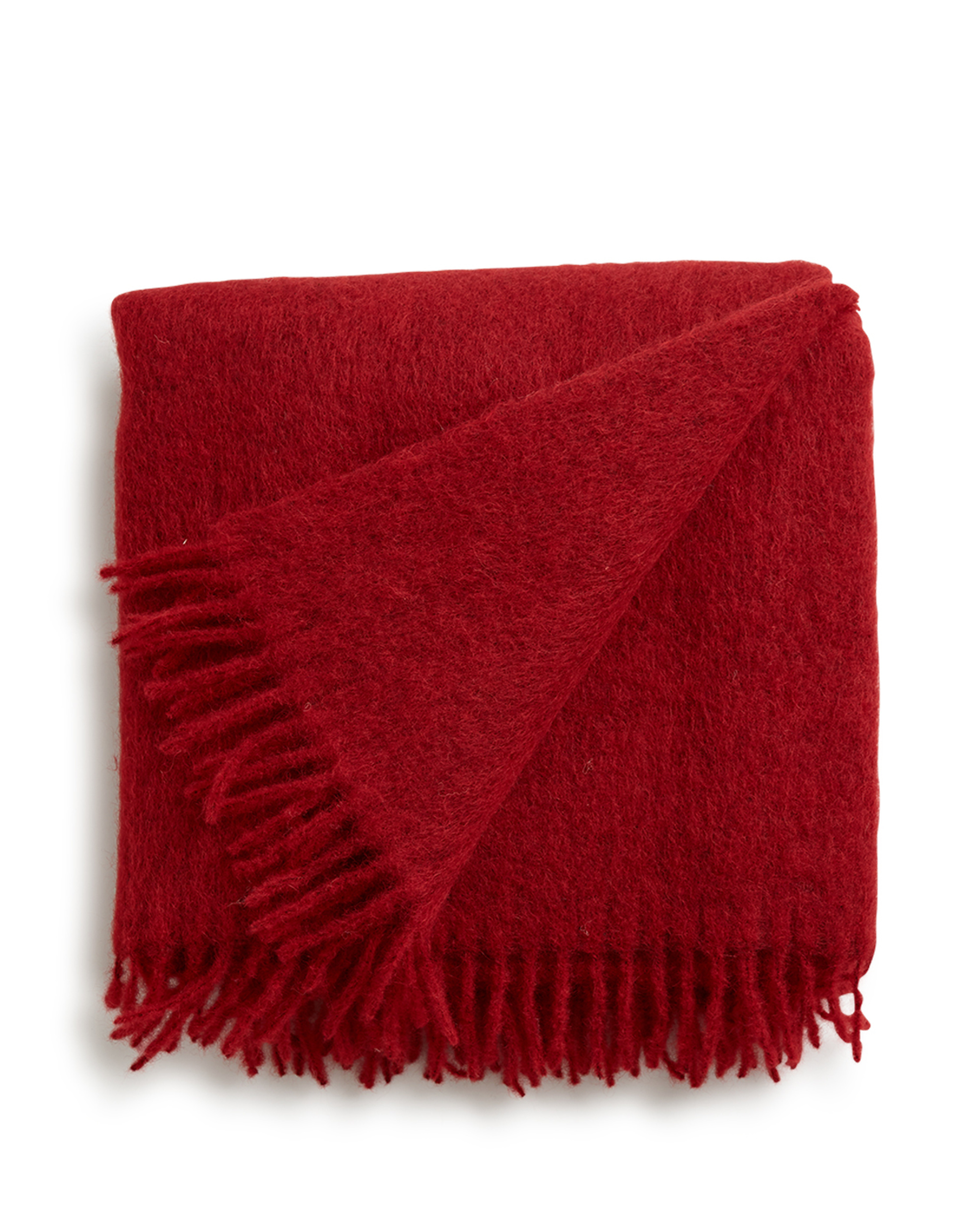Holiday Mohair Throw, Red