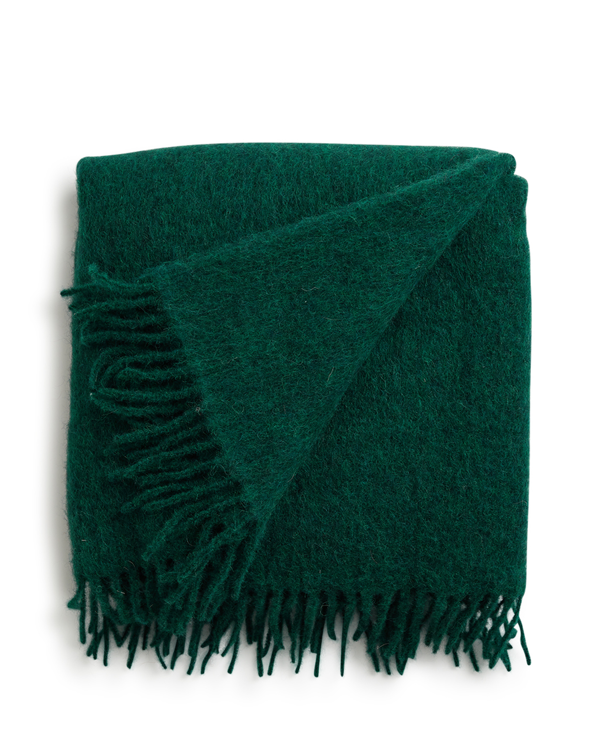 Holiday Mohair Throw, Green