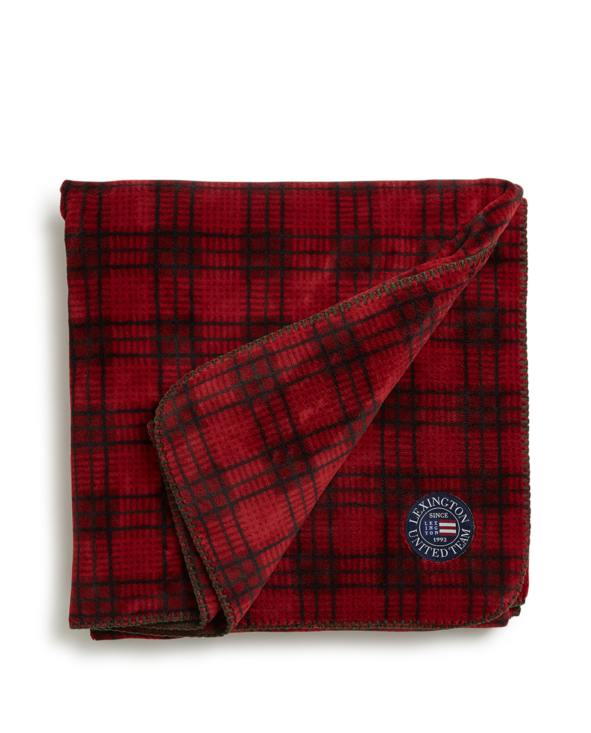 Holiday Checked Fleece Throw, Red