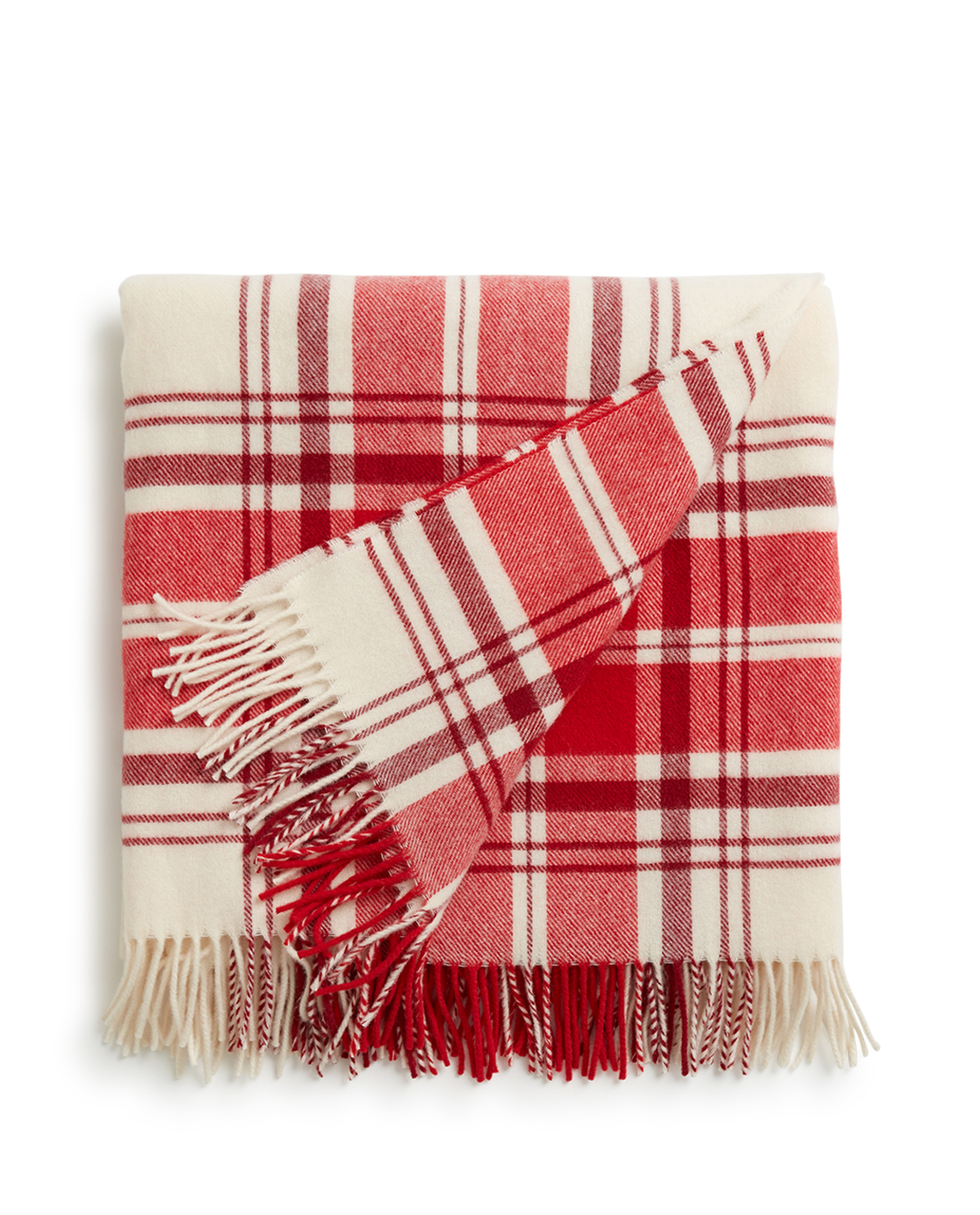 Holiday Classic Wool Throw, Red/White