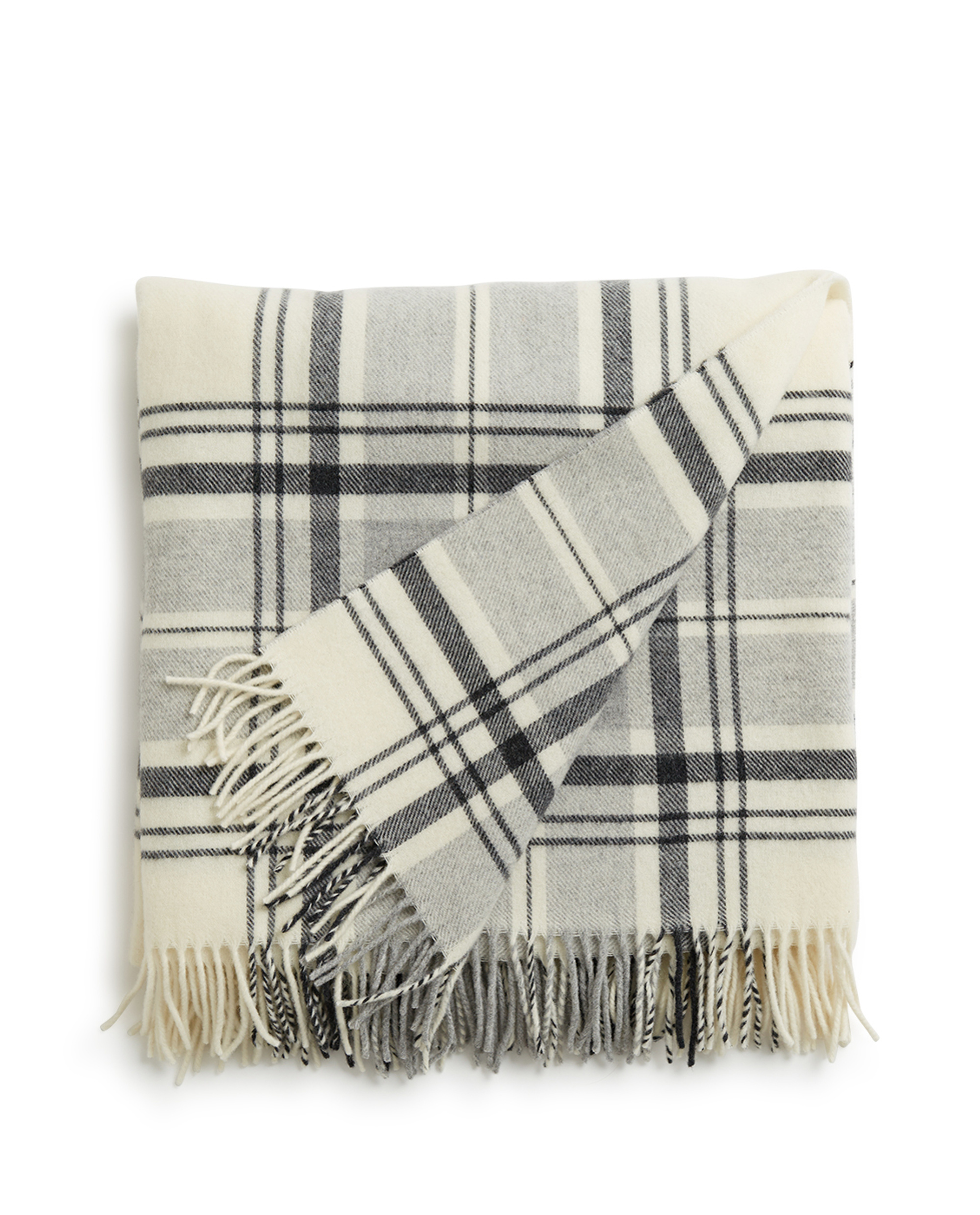 Holiday Classic Wool Throw, White