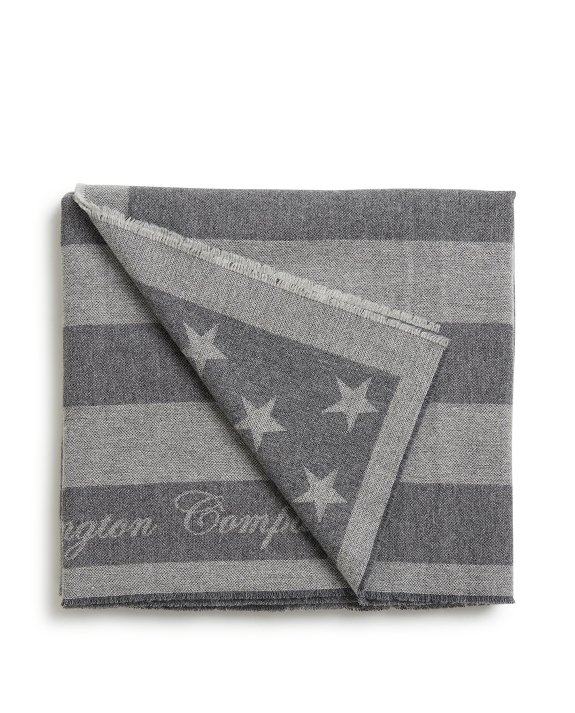 Holiday Flag Throw, Gray