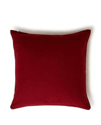 Holiday Syrah Wool Sham, Red