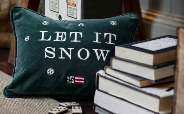 Holiday Let it Snow Sham, Green