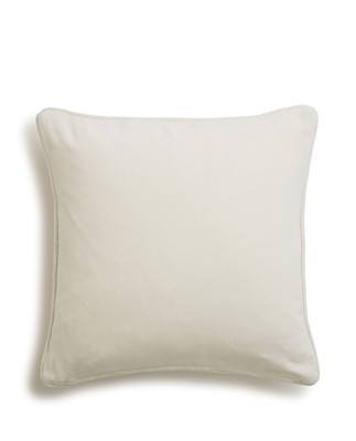 Mistletoe Velvet Sham, White