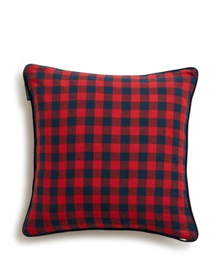 Holiday Checked Sham, Red/Blue