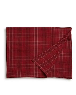 Holiday Checked Tablecloth, Red