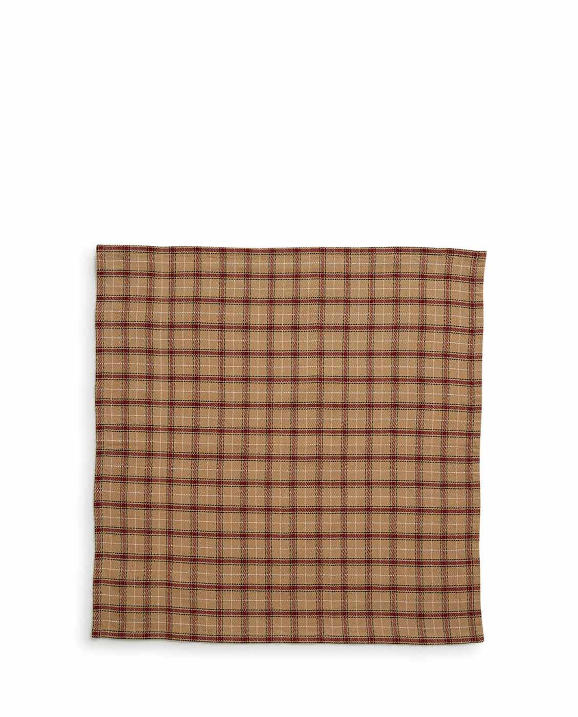 Holiday Checked Napkin, Beige