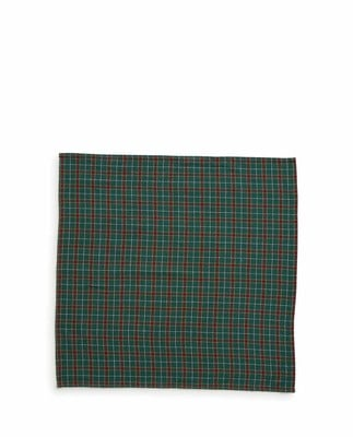 Holiday Checked Napkin, Green