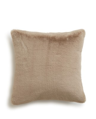 Holiday Faux Fur Sham, Beige