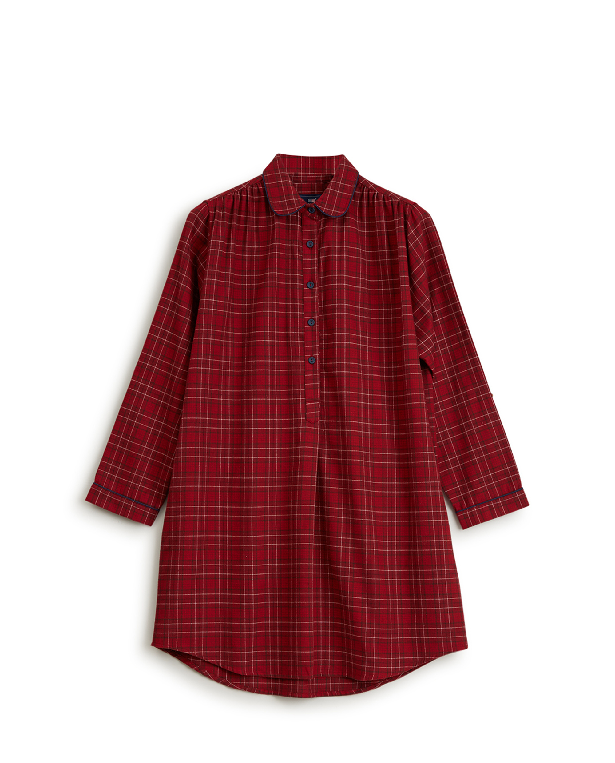 Holiday Womens Checked Flannel Nightshirt, Red