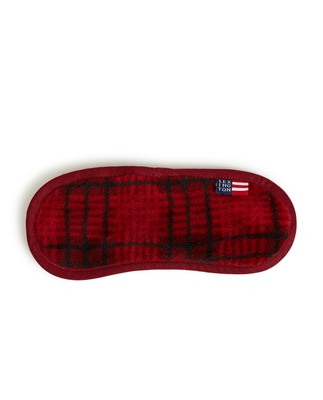 Checked Fleece Sleep Mask, Multi