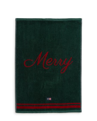 Holiday Merry Christmas Towel Set, Red/Green