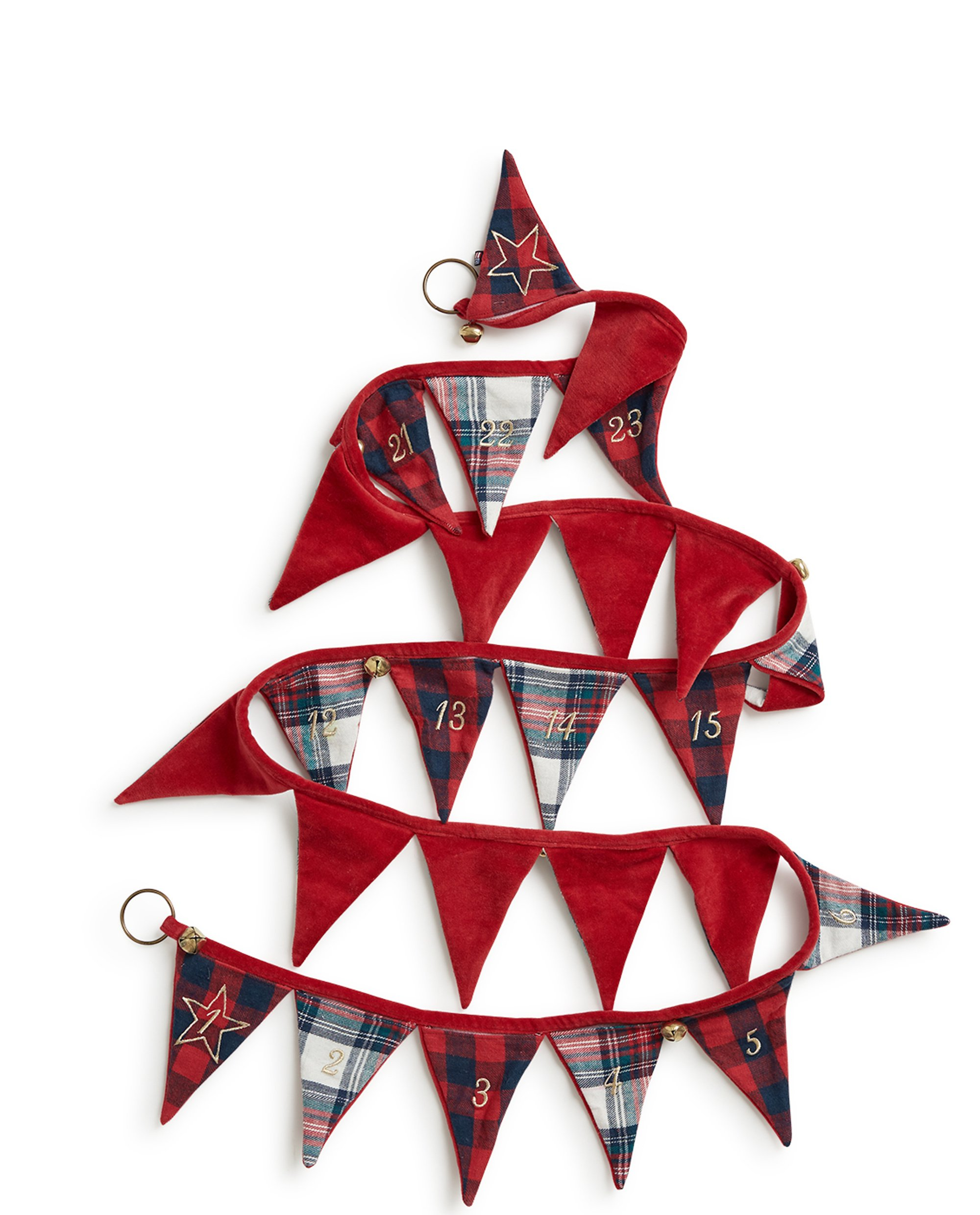 Holiday Christmas Calendar Pennant, Multi