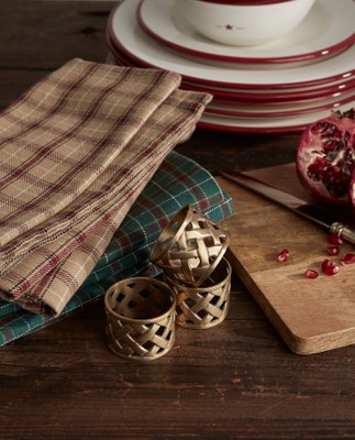 Holiday Brass Napkin Ring