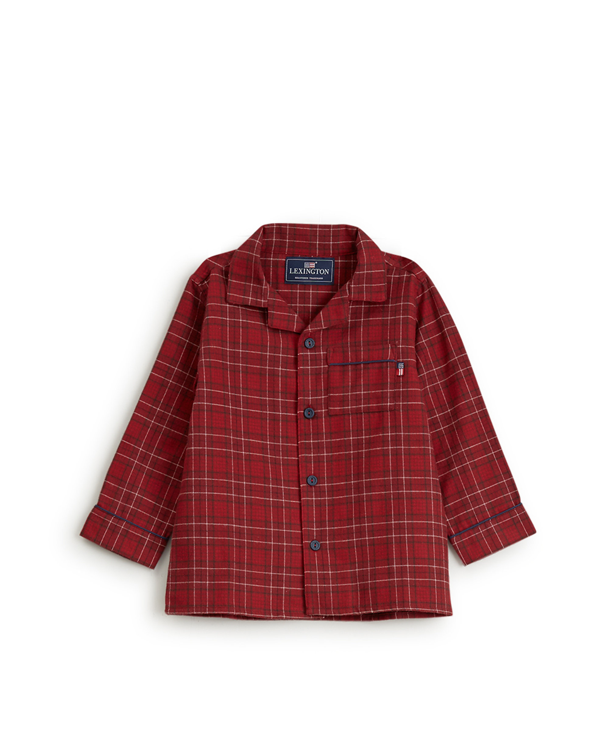 Holiday Kids Checked Flannel Pajama, Red