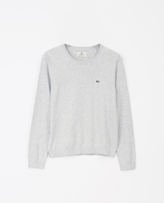 Marline Organic Cotton Sweater, Gray Melange