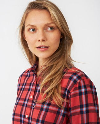 Isa Flannel Shirt, Red/Blue Check