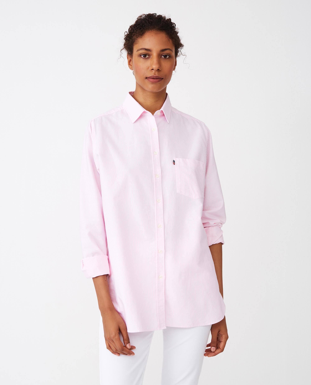 Isa Organic Cotton Oxford Shirt Pink/White Stripe