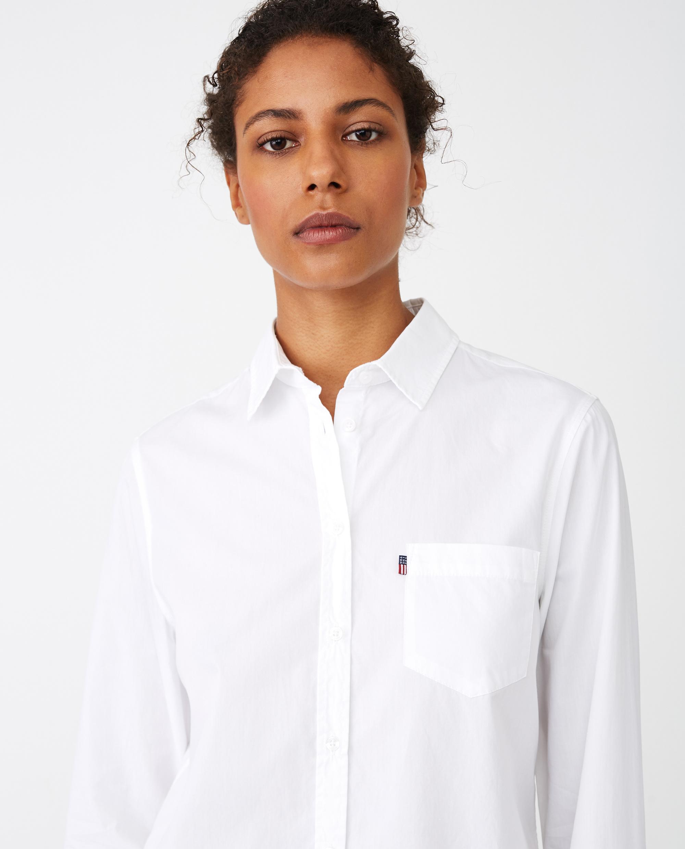 Emily Poplin Shirt, White