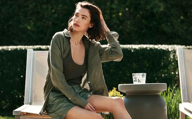 Isa Linen Shirt, Green