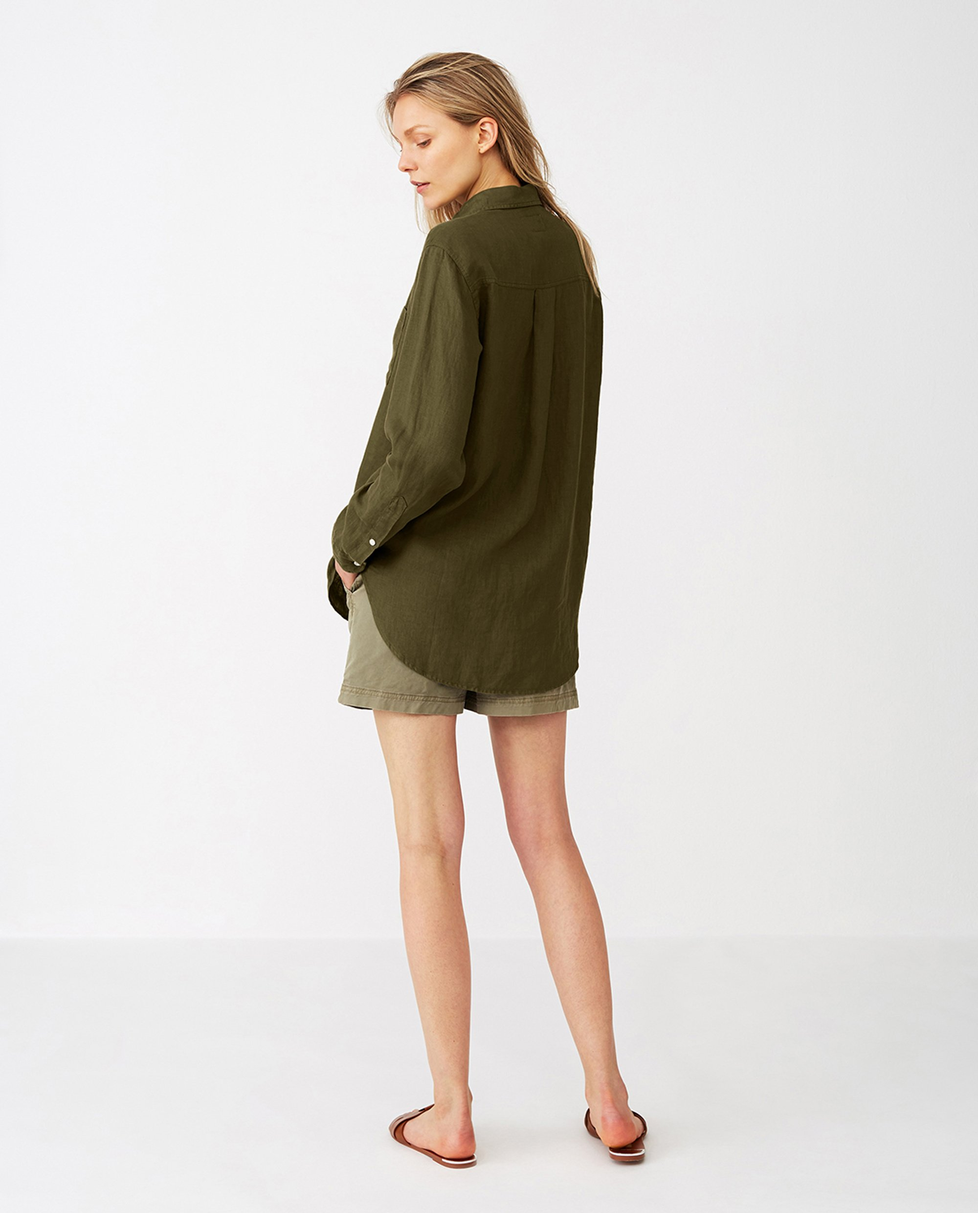 Isa Linen Shirt, Green