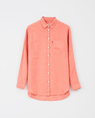 Isa Linen Shirt, Pink