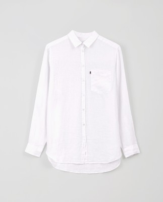 Isa Linen Shirt, White