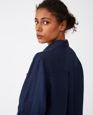 Isa Linen Shirt, Blue