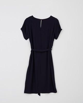 Kristina Solid Dress, Dark Blue