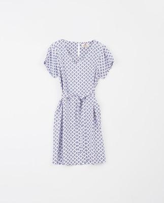 Kristina Blue Flower Dress