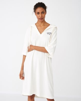 Petra Terry Dress, White